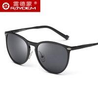 2017 Top Fashion Sale Adult Men Oval Magnesium Polarized Sunglasses Male Retro Driver Mirror Bright Reflective Metallic Glasses