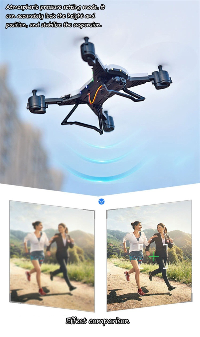 RC Helicopter Drone with Camera HD 1080P WIFI FPV Selfie Drone Professional Foldable Quadcopter  Minutes Battery Life 7