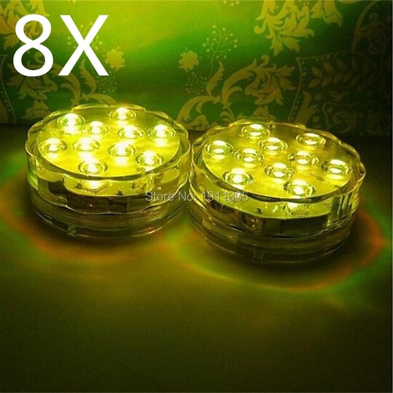 8 pcs LED Bougie Submersible Floral Tea Light Clignotant Décoration - Éclairage festif - Photo 3