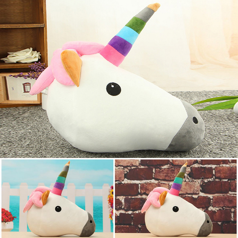online shop cute unicorn horse head pillow cushion rainbow emoji soft toy home decor kids white horse pillow doll unicorn ornaments 2017 aliexpress mobile - Horses Head Pillow