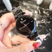 2018 New Luxury lady Gentlemen Crystal Watch Men Women black Blue Dress Watch Fashion Gift Rose Gold Watches Female Wristwatches