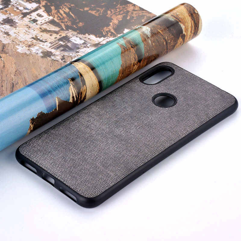Case for Xiaomi Redmi Note 4 4x 5 5a 6 pro plus prime pocophone f1 Luxury Fabric Cloth Leather case skin silicone cover coque