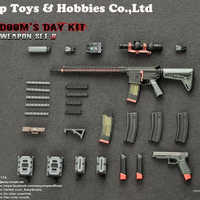 Guns combination Easy&Simple 1/6 06017 Doom' Day Kit II Rifle Pistol Gun old version Weapon Model Gun Collections