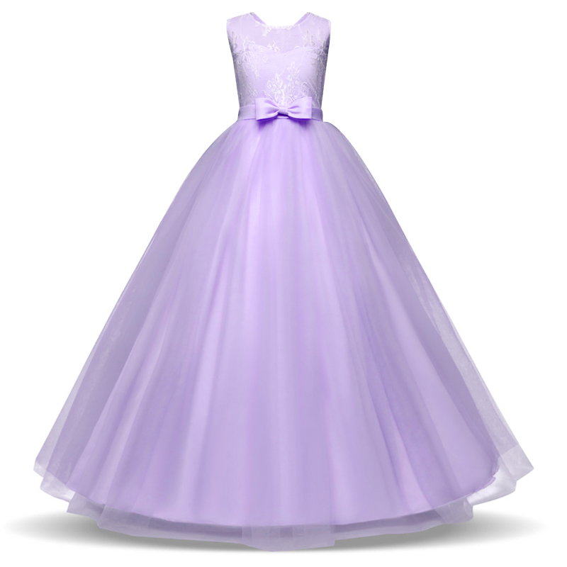 Flower Girls Dress for Wedding and Party Dresses Kids Bridesmaid Princess Girl Clothes Children Teenage Girls Clothing 14 Yrs kids flower girl dress for party and wedding dresses girls sleeveless princess dress 2018 new summer 3 14 yrs children clothes