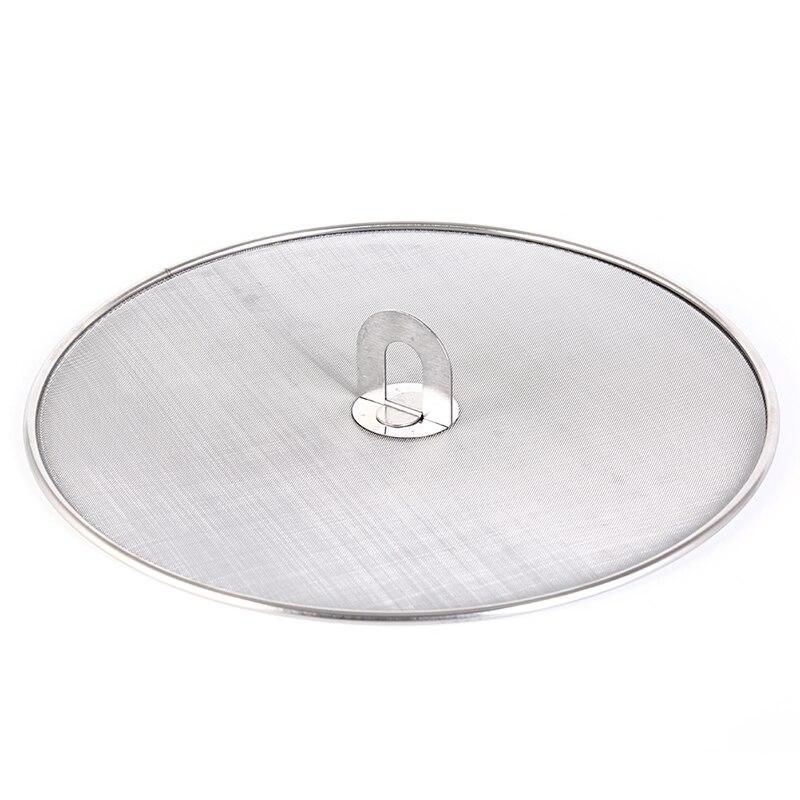 Нержавеющая сталь серебро нефти проверки кастрюлю крышкой водостойкая жарки брызги Экран крышка серебро Цвет