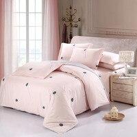 Nova chegada 100% algodão doce rosa dandelion conjunto de cama romântico 4 pçs rainha king size impresso lençol fronha capa edredão