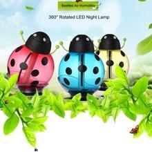 Portable USB Beetles Air Humidifier LED Night Light Home Car Air Purifier Mini Humidifier for Car