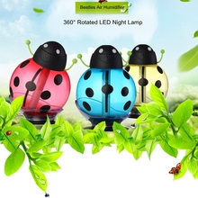 Portable USB Beetles Air Humidifier LED Night Light Home Car Air Purifier Mini Humidifier for Car Home Office Baby