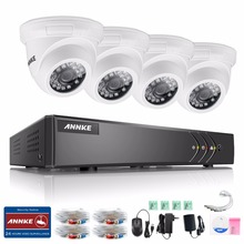 ANNKE 4CH 720P HD CCTV System 1080P HDMI DVR 4PCS IR Outdoor Waterproof Metal Security Camera 720P Home Video Surveillance Kit