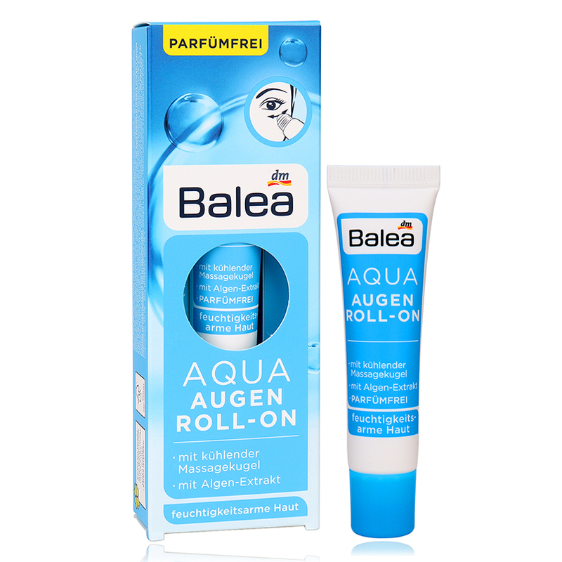 Germany Balea Aqua Roll On Eye Cream Seaweed Extract Refreshing VE Gel Cooling massage ball Fight swelling dark circles цены