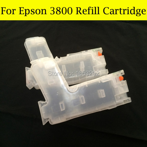 9PCS x 280ML Refill Ink Cartridge For Epson 3800 3800XL Cartridge T5801-T5809 For Epson Printer With 9PCS Chip Sensor free shipping 3880 ink cartridge for epson t5801 t5809 t5802 t5803 t580 with chip sensor comepatible eps printer 3880