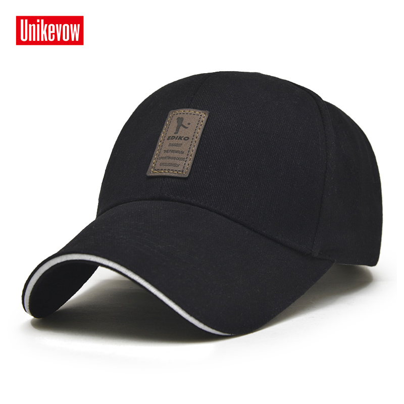 UNIKEVOW 1Piece Baseball Cap Men's Adjustable Casual Solid Color Snapback Summer Fall