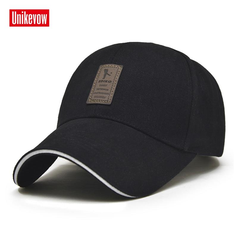 1 Pezzo Protezione Casuale Berretto Da Baseball Regolabile uomini cappelli di svago di Modo di Colore Solido cappello di Snapback Estate Autunno