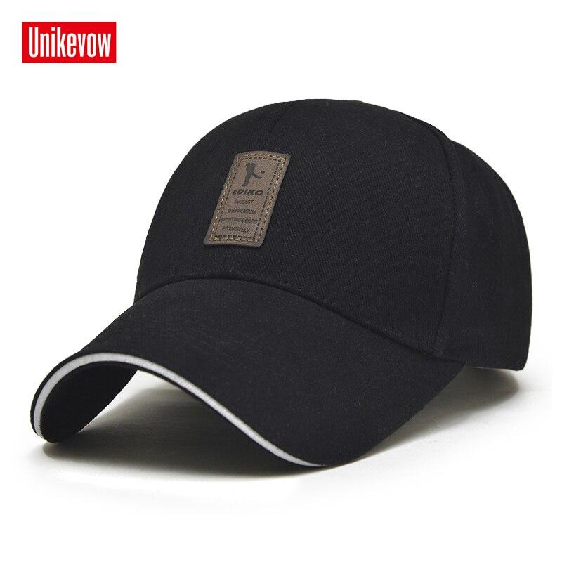 1 Pièce de Casquette de baseball Hommes Réglable Cap Casual loisirs chapeaux Solide Couleur Mode Snapback Été Automne chapeau
