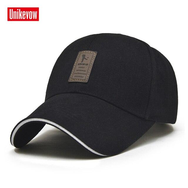1 peça Cap Boné de Beisebol Ajustável dos homens Casual lazer chapéus Cor Sólida Moda Verão Snapback chapéu Queda