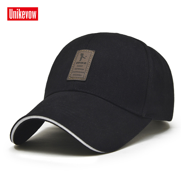 1Piece Baseball Cap Men s Adjustable Cap Casual leisure hats Solid Color  Fashion Snapback Summer Fall hat e9daf3929df