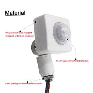 Image 2 - Capteur de mouvement infrarouge PIR, 10MM, 220V, haute qualité, réglage du Mode rotatif à 160 degrés pour éclairage LED extérieur