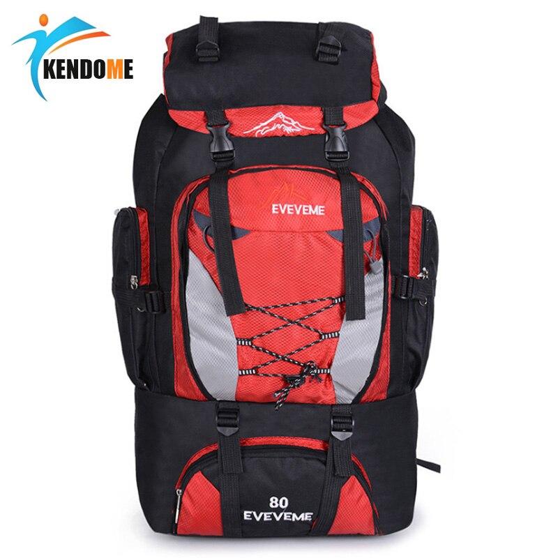 Men's 80L Large Hiking Mountaineering Backpack Climbing Hiking Backpack Camping Backpack Sport Outdoor Rucksack Bag