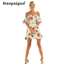 Plus Size Printed Floral Vacation Beach Dress Women Spaghetti Strap Sexy Mini Dress Club Wear for Ladies Casual Bohemian Dresses цена 2017