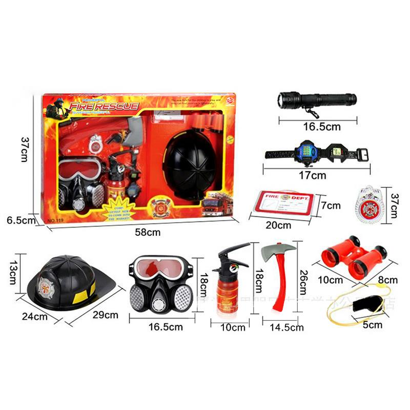 Back To Search Resultstoys & Hobbies 10pcs/set Fireman Helmet Fire Rescue For Childrens Tool Learning Toy Kids Play Firefighter Toy Kids Childen Best Halloween Gift