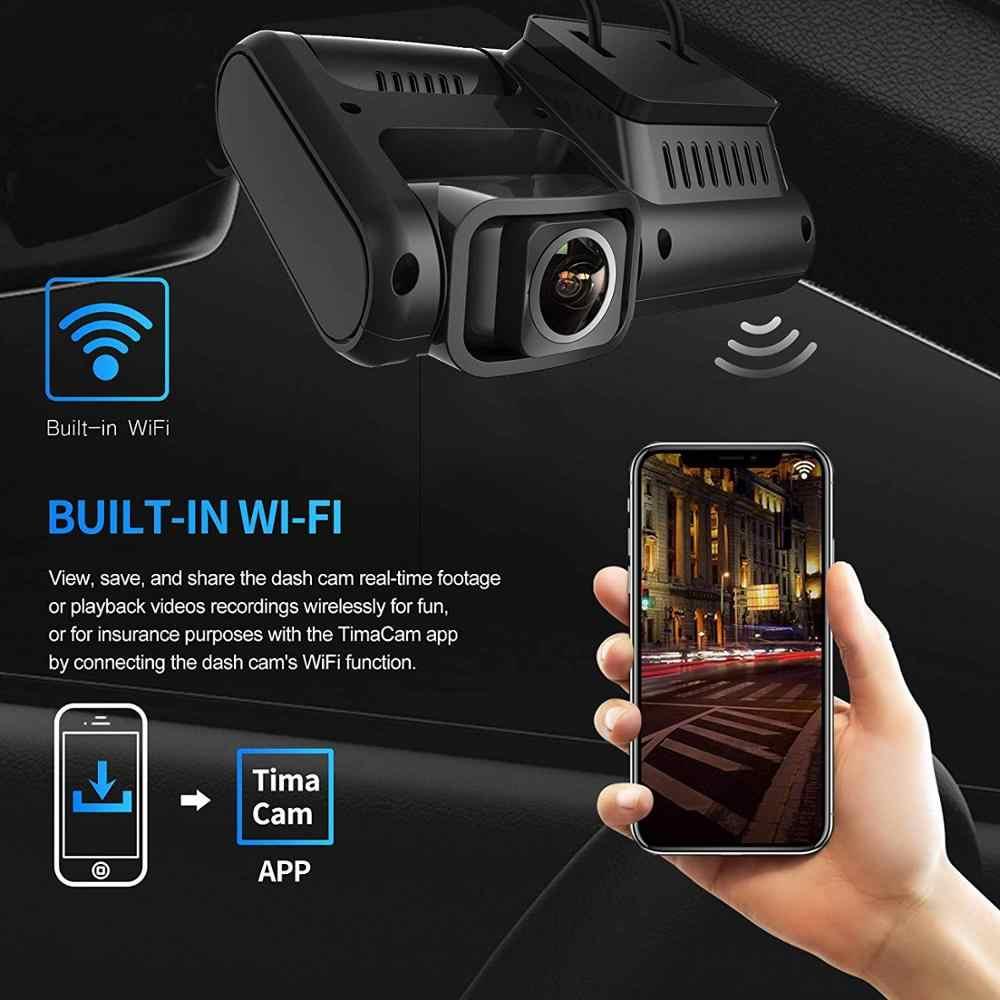 PRUVeeo WiFi обновленная версия передняя + задняя двойная камера 1080p Full HD Wi-Fi ультра широкоугольный ЖК-экран автомобиля, Uber, такси Dash Cam