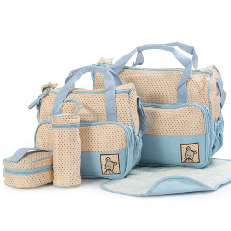 Free shipping 4pcs Fashion Mummy Bag For Baby Nappy Bags mother diaper bags for stroller