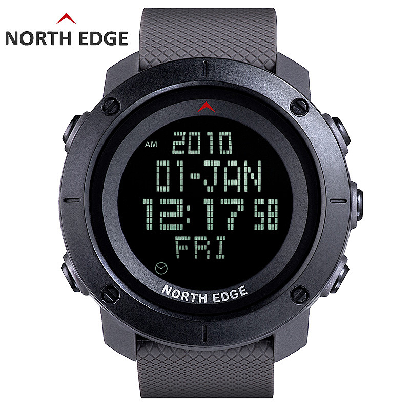 все цены на NORTH EDGE World Time Men Sports Army Watches Waterproof 50m Digital Watch Running Swimming Diving Wristwatch Montre Homme онлайн