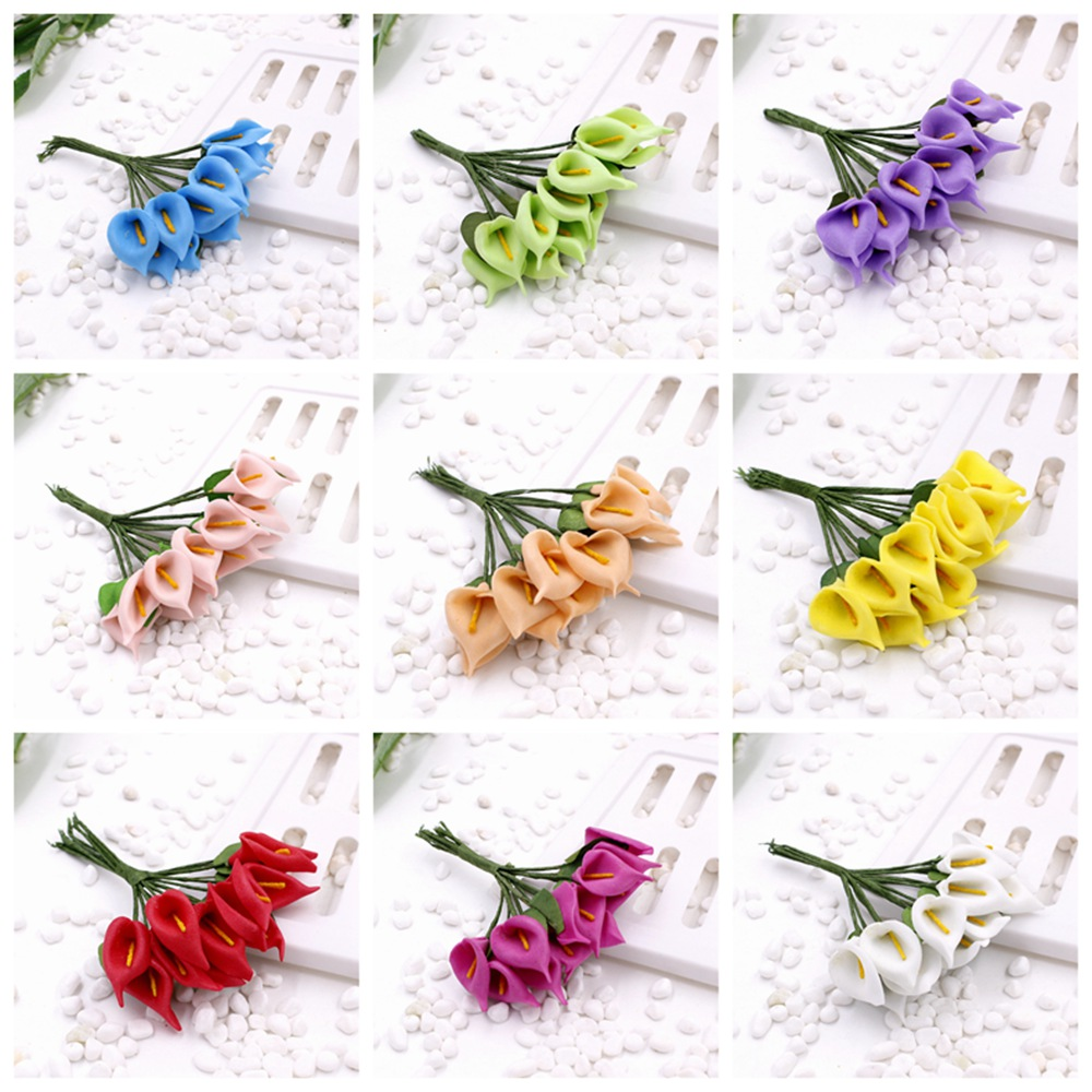 2016 New 25cm 144pcs Lot 11 Different Colours Mulberry Calla Lily