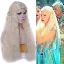 Mother of the Dragon, Song of Ice and Fire Rights Game Danielis Weaves Long Curly Costplay Wigs(China)
