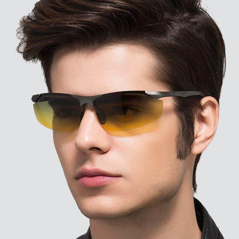 Brand Aluminum Polarized Day Night Driver Sun Glasses HD Polarized Male Sun Glasses For Men Eyewear Accessories UV400 8179