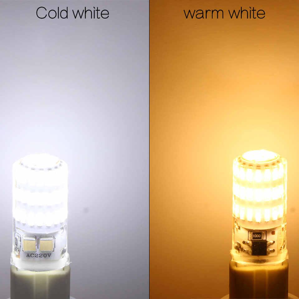 2017 הכי חדש G9 LED מנורת g4 הוביל הנורה SMD 2835 3014 4014 תירס אור AC220V 360 תואר קריסטל הנורה להחליף הלוגן g4 g9 מנורת led