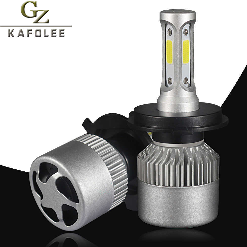 2 Pcs Car Headlight 6500K H7 Led Bulb H3 H4 HB2 H8 Led H1 H9 H11 HB3 9005 HB4 9006 H13 9012 880 9007 8000LM 12v Auto Headlamp