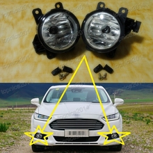 1Pair Clear Bumper Fog Lights Lamps for Ford Mondeo/Fusion 2013-2015 цены онлайн