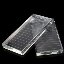2 Pairs/Pack eyelash extension supplies in 1 Crystal adhesive holder false eye lashes Pallet Stand Pad glass pallet