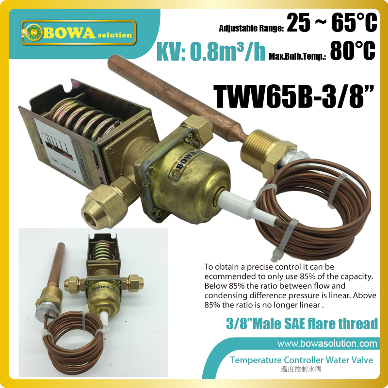 3 8 SAE connection temperature controlled water valves make water cooled condenser temperature stable for getting