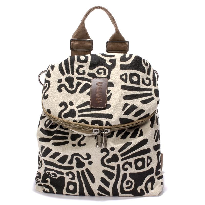 New Brand Canvas Printing Backpack Women Cute School Backpacks for Teenage Girls Vintage Laptop Bag Rucksack Bagpack Female pca 6008vg industrial motherboard 100% tested perfect quality