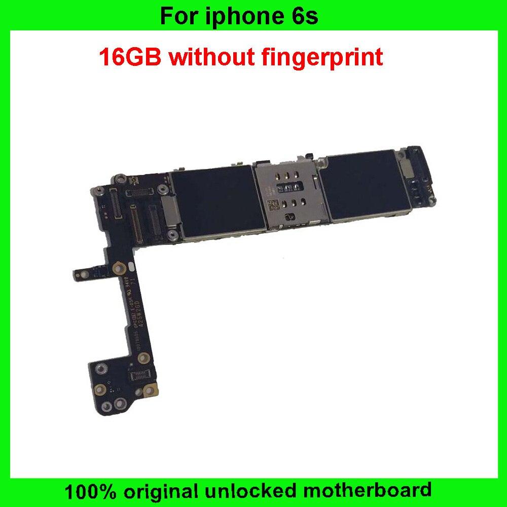 """imágenes para Activado 16 GB placa lógica para el iphone 6 s sin Desbloqueo huella digital original placa madre para el iphone 6 s 4.7 """"puede agregar IMEI etiqueta"""