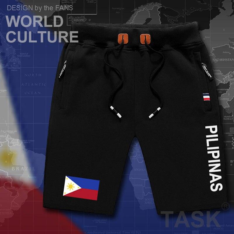 Philippines Pilipinas Mens Shorts Beach New Men's Board Shorts Flag Workout Zipper Pocket Sweat Bodybuilding 2017 Cotton New PH