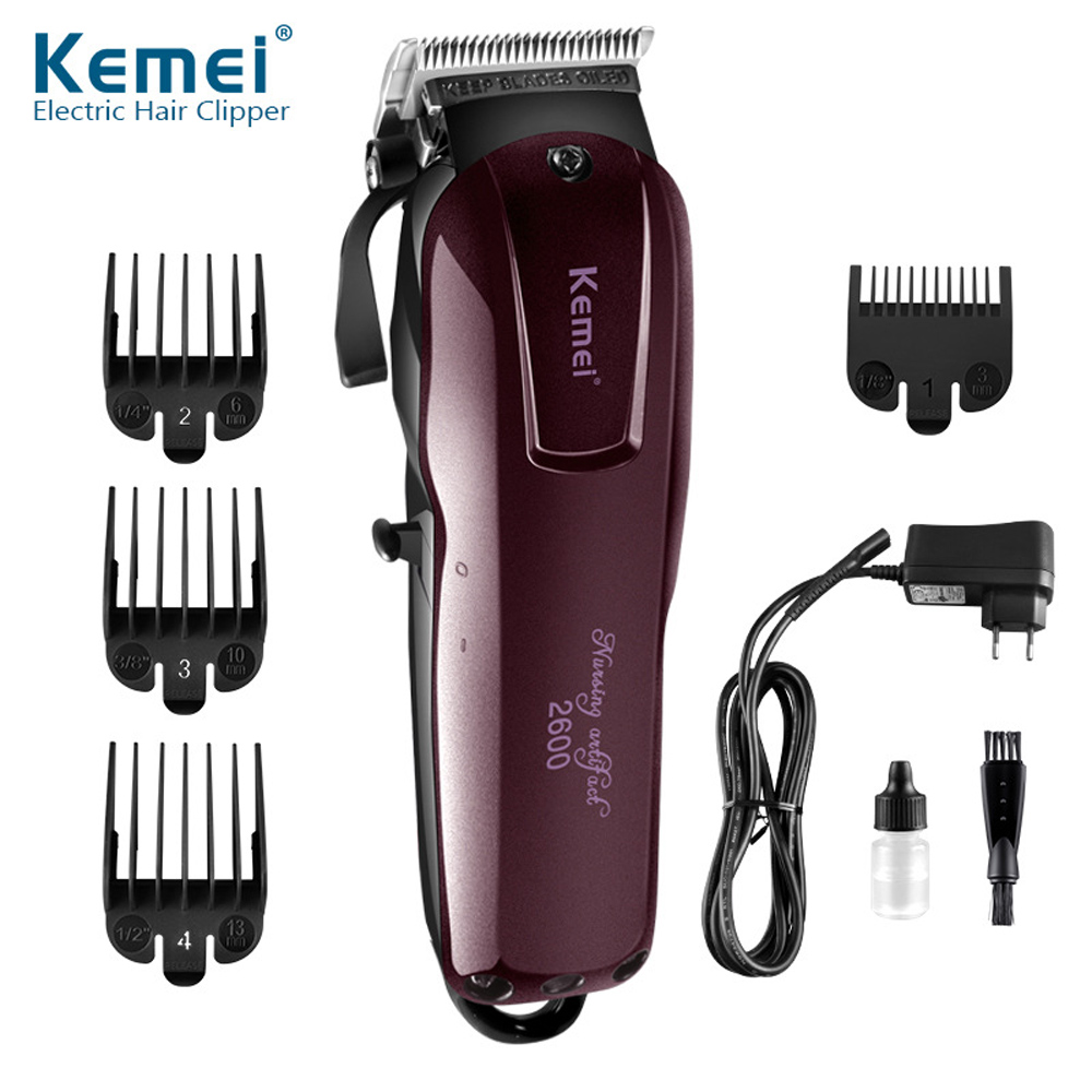 100 240 v poderosa de cabelo kemei profissional maquina de cortar cabelo aparador de cabelo eletrico