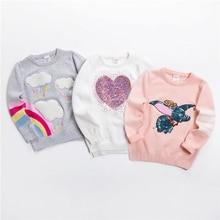 Новое Детское платье-свитер мягкий Пуловер с рисунками из мультфильмов свитер для детей модная одежда для девочек с блестками для детей Вязание одежда для маленьких мальчиков и джемпер для девушки, возраст от 3 до 7 лет