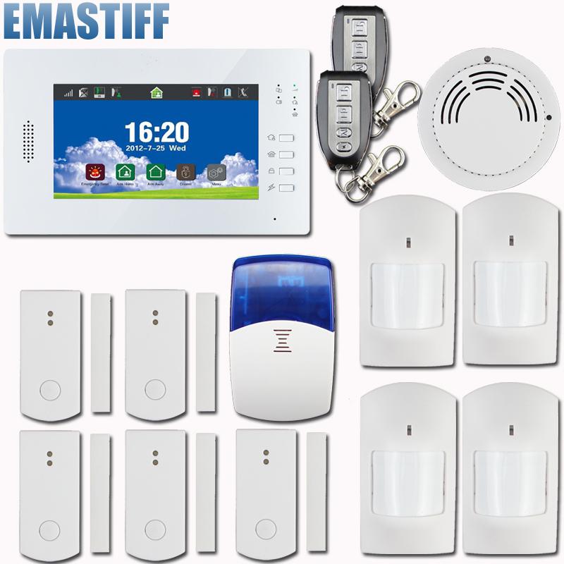 Free shipping,100% brand new,Advanced quad-band touch screen GSM alarm system with smart sensors new language leader advanced coursebook with myenglishlab pack