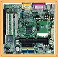 Frete grátis usado qdi w1l-2m/e 810 motherboard industrial com slot ISA placa + CPU + 128 cartão de Memória + fã