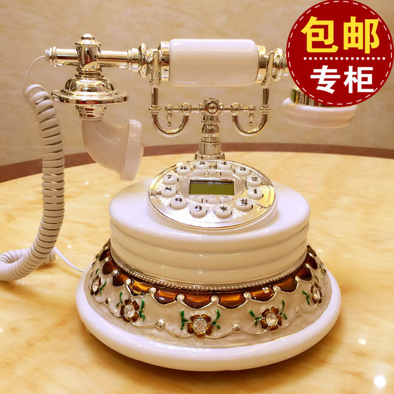 The wireless card European antique retro old-fashioned land mobile home telephone