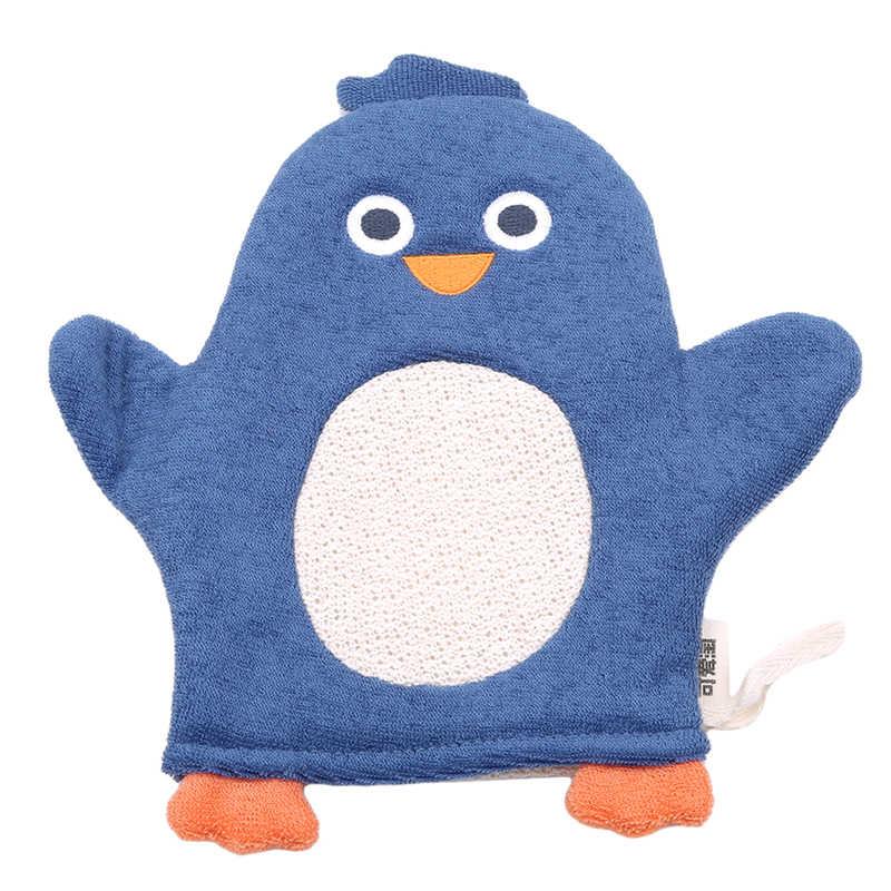 2018 Baru Hewan Fox Penguin Kartun Lembut Bayi Sikat Mandi Bayi Shower Sarung Tangan Anak Diperlukan