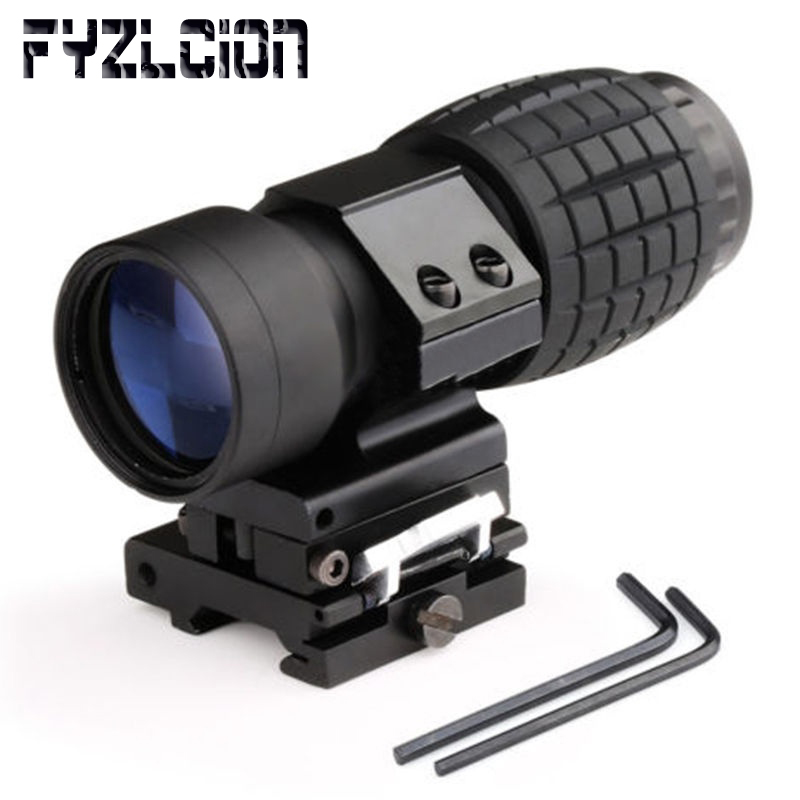 Hot 3X Magnifier Scope with FTS Flip to Side Mount Fits Holographic and Reflex SightHot 3X Magnifier Scope with FTS Flip to Side Mount Fits Holographic and Reflex Sight
