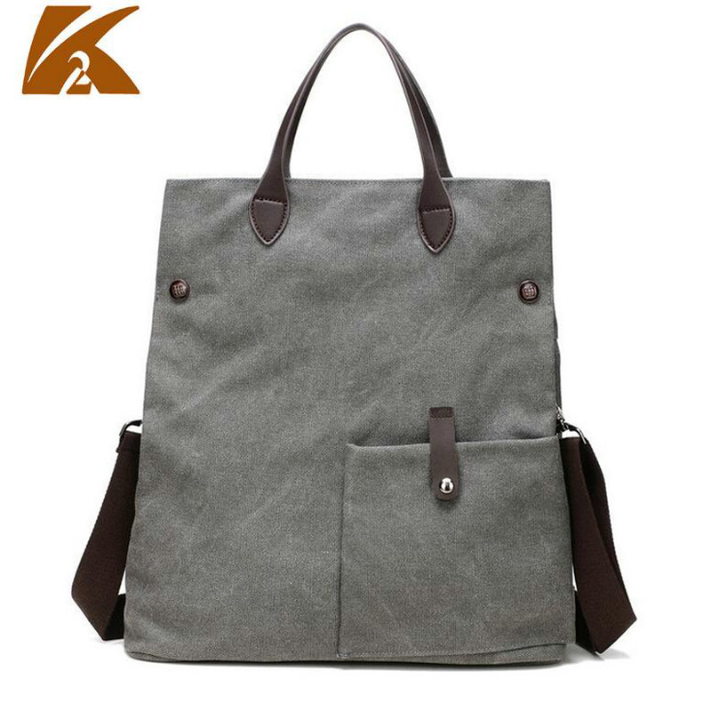 KVKY Womens Vintage Multifunction Canvas Messenger Handbag Casual Retro Foldable Crossbody Shoulder Bag Large Tote Bolsa B255
