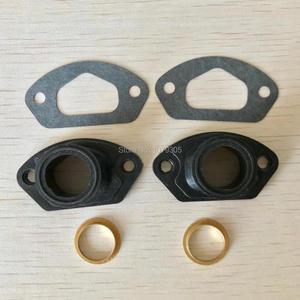 Image 2 - 2 conjuntos de peças de serra de escape, manopla de admissão com anel e junta para 45cc/4500 52cc/5200 58cc/peças chinesas da motosserra 5800