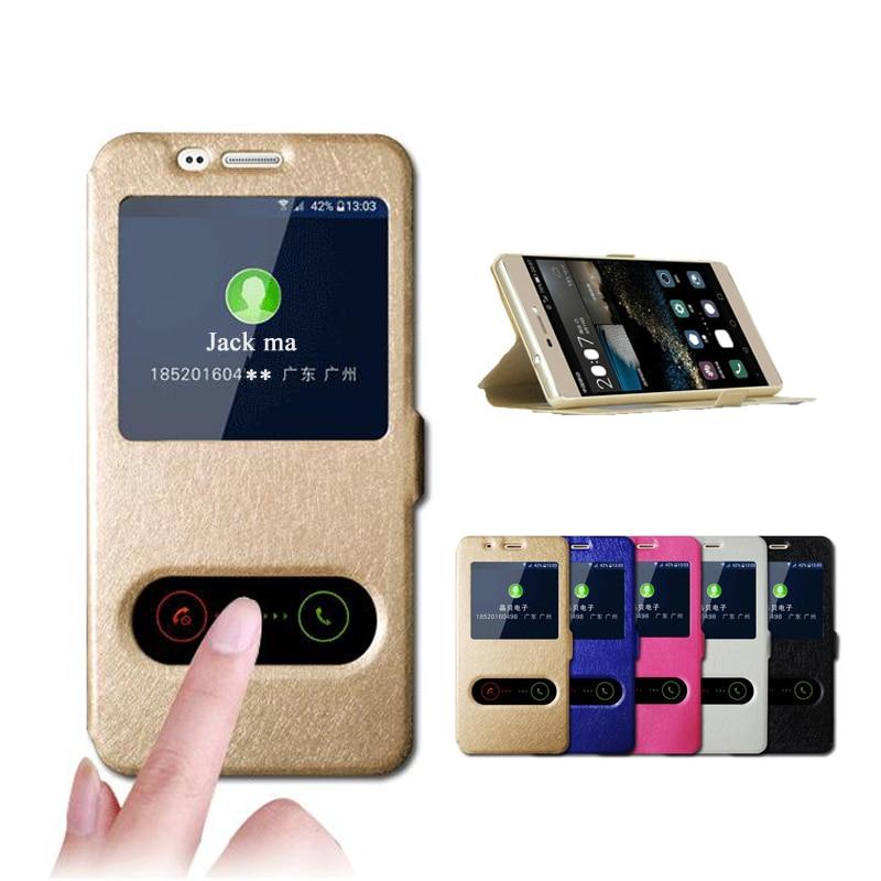 Kožené pouzdro pro Samsung Galaxy J2 J5 J7 Prime View Window Flip - Příslušenství a náhradní díly pro mobilní telefony