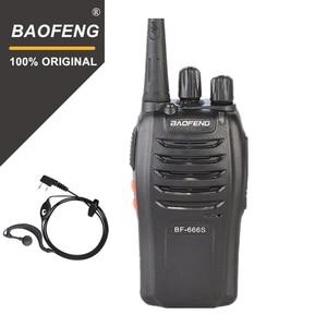 Image 1 - 100% Baofeng BF 666s Walkie Talkie 16CH Praktische Zwei Weg Radio UHF 400 470MHZ Tragbare Ham Radio 5W taschenlampe Programmierbare