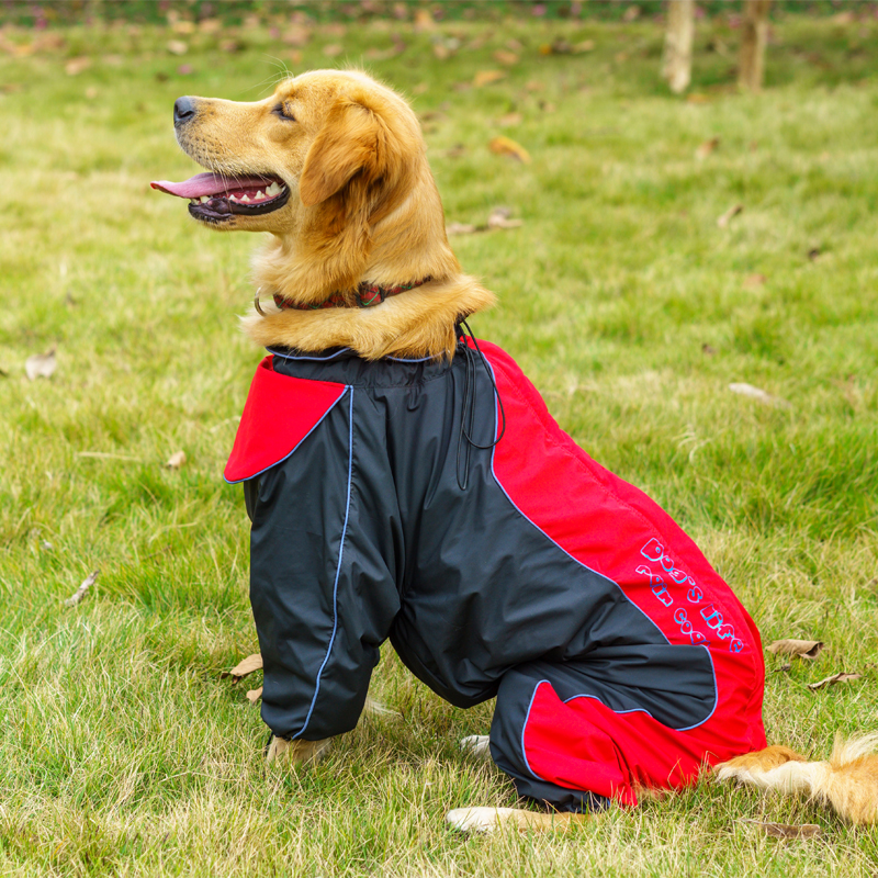 Pet Dog Raincoat Waterproof For Medium Large Dog Clothes Jumpsuit Outdoor Coat Golden Retriever Labrador Rain Jacket Big Dogs